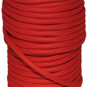 c ble lectrique textile fil lectrique tissu rouge le diy shop. Black Bedroom Furniture Sets. Home Design Ideas