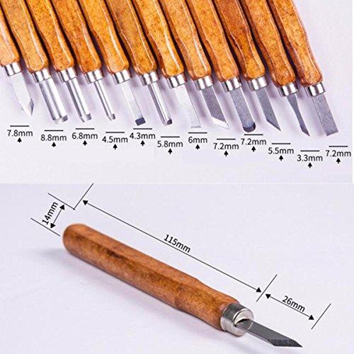 ciseaux bois gochange 12 pi ces pyrograveur sur bois main gravure sur bois couteaux. Black Bedroom Furniture Sets. Home Design Ideas