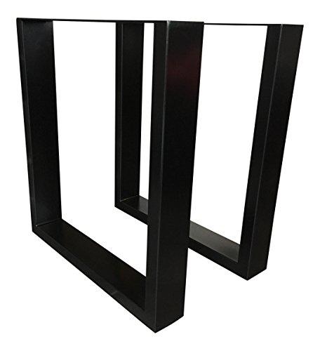 holzwerk tug 305 pied de table armature de table support de table en acier noir pulv ris 1. Black Bedroom Furniture Sets. Home Design Ideas
