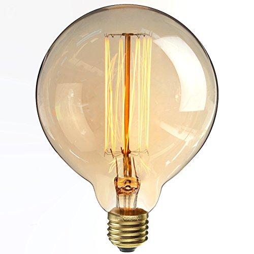 kingso e27 ampoules incandescence lampe edison 40w 220v g125 globe r tro ampoule vintage. Black Bedroom Furniture Sets. Home Design Ideas