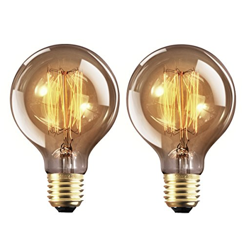 yunlights 2 pack dimmable edison lampe g80 220 240v 40w 140lm e27 edison ampoule antique globe. Black Bedroom Furniture Sets. Home Design Ideas